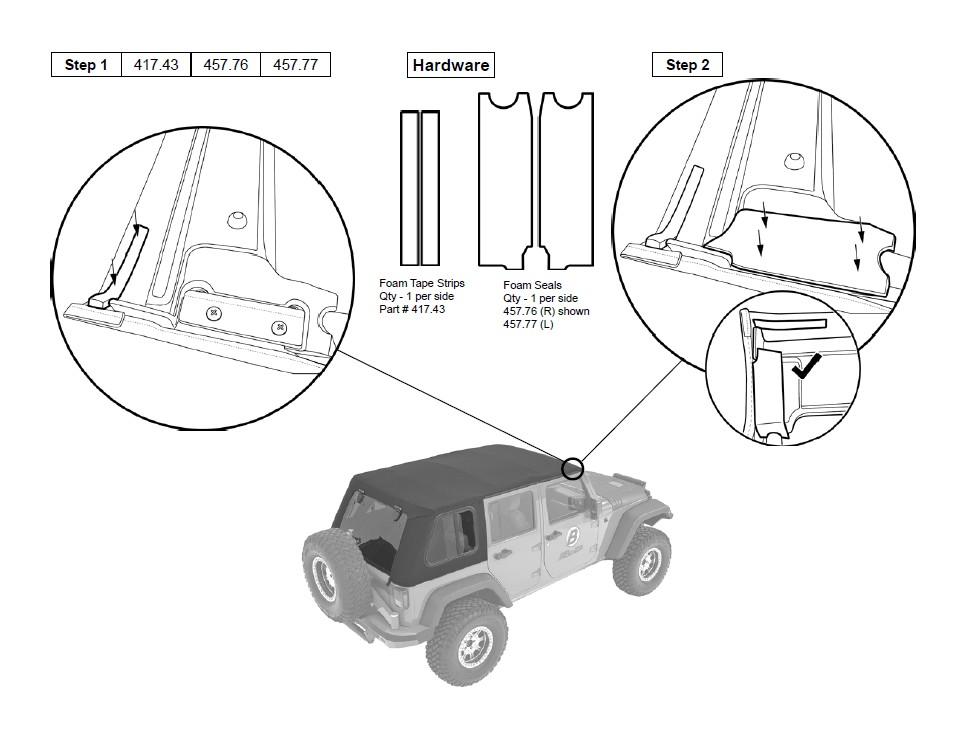 install jeep jk soft top