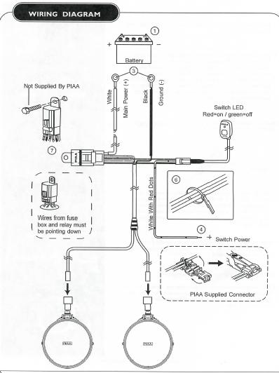 piaa fog light wiring diagram