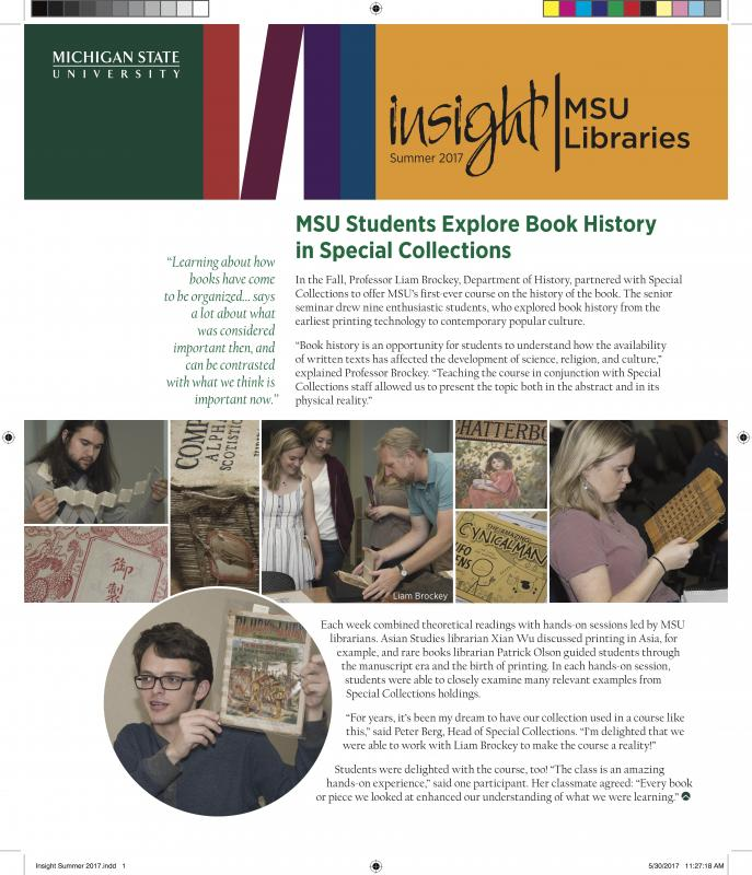 Newsletters Support MSU Libraries