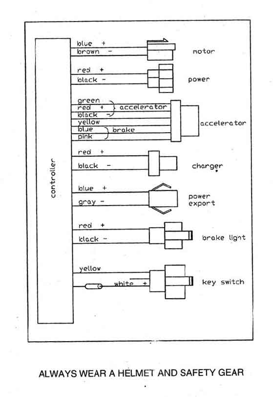 24v E Scooter Wiring Diagram Electronic Schematics collections
