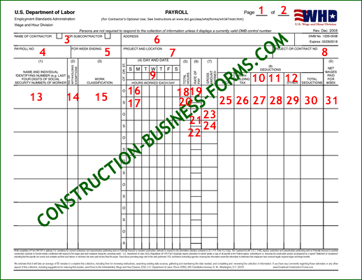 WH-347\/348 - In-Depth Instructions For How To Fill In This Form - certified payroll form
