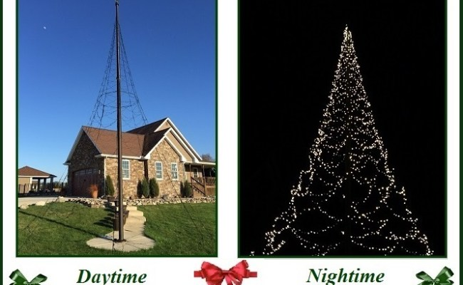 Coming oct 2015 30ft christmas tree flagpole kit 2000 warm white led s