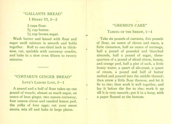 Recipe Book pages 2 and 3