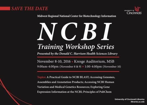 NCBI Training Workshop Series Announcement