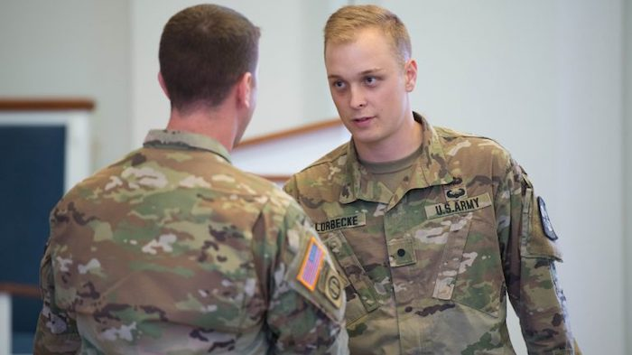 College of Liberal Arts Army ROTC Cadet Receives National