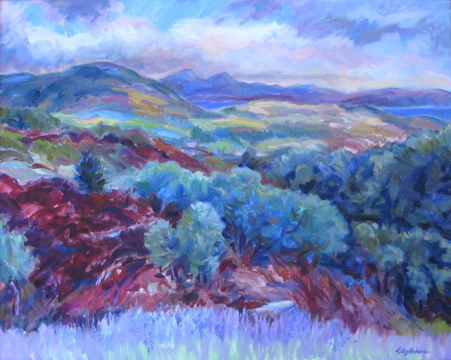 Bluebell Hill, Knapdale oil 20 x 16in