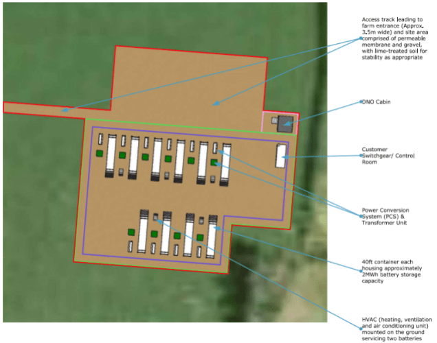Energy Storage Unit Proposed In Field At Rock Farm