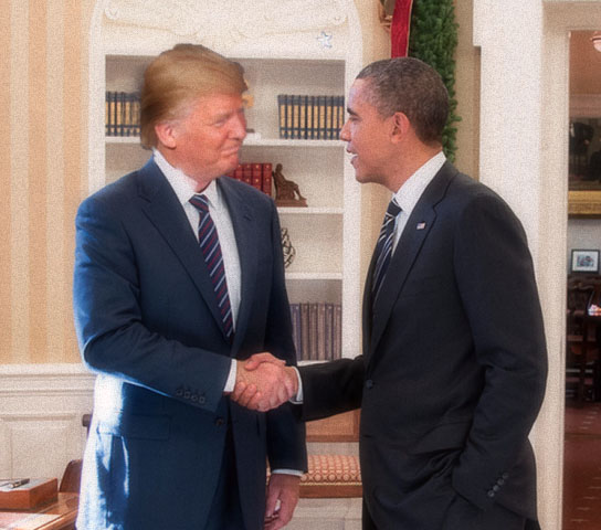 Image result for Obama and Trump in white house