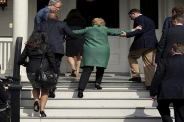 hillary clinton weakened by sunlight