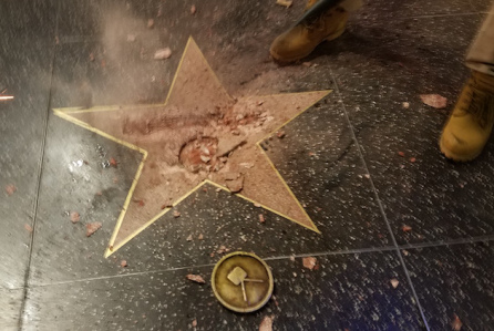 hillary-clinton-donald-trump-star-hollywood-destroy