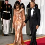 Disgusting:  Michelle Obama Wears Form Fitting Dress That Shows Curves To Final State Dinner