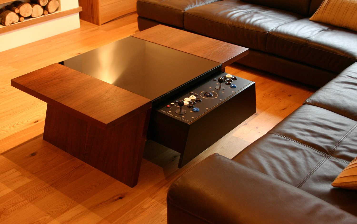 Geeky Coffee Tables Double 7 Contemporary Arcade Coffee Table Liberty Games