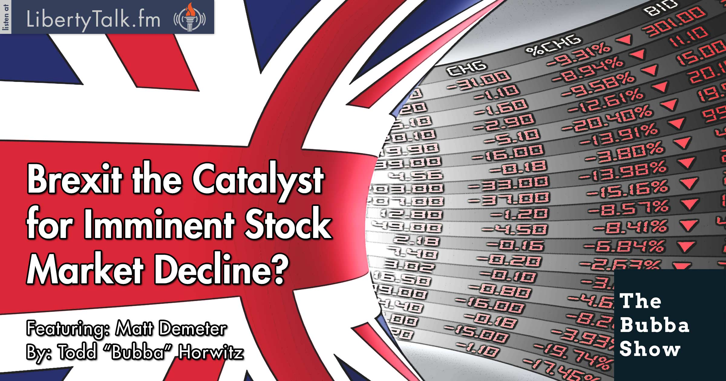 Stock Markets Brexit Brexit The Catalyst For Imminent Stock Market Decline