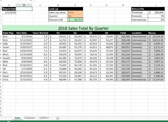 Office 2016 MyITLab MS-Excel EX16_XL_CH07_GRADER_CAP_AS - Sales Data 11