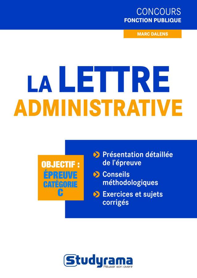 la lettre administrative cv