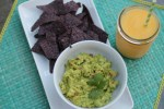 guacamole-blue-corn-chips-and-mango-margarita