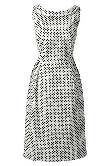 lands end polka dot portrait collar dress