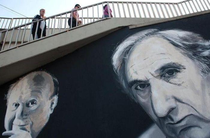 Falfestmény a Rákóczi híd alatt