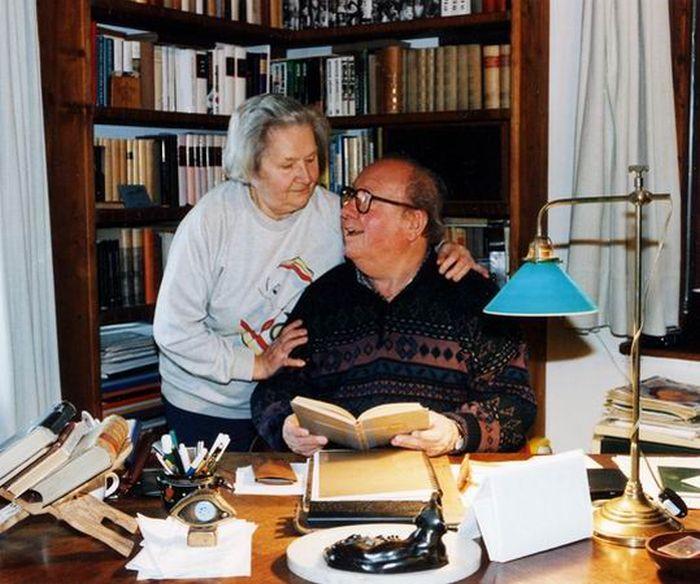A feleségével, Marával 60 év után (fotó: kiskegyed.hu)