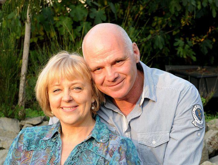 Férjével, Péterfy Gergely íróval (Fotó: Kiskegyed)