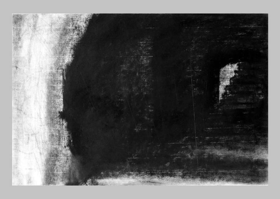 Arles, Les arénes, szén, papir, 32x48 cm. 2014