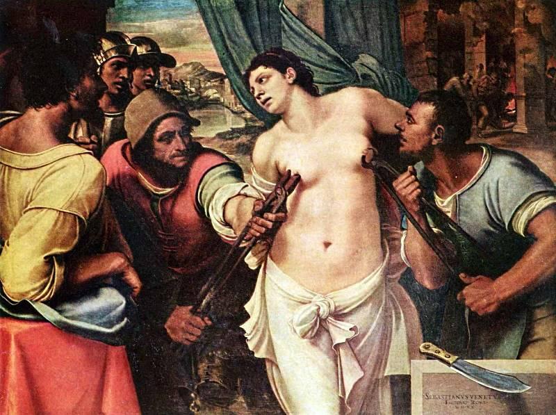 Sebastiano Piombo (1485 – 1547) - Szent Ágota mártíromsága