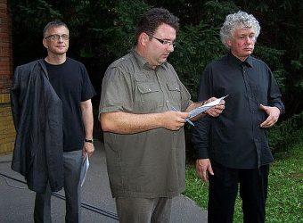 Mácsai Pál, Kocsis Zoltán és Bolyki György 2010-ben (fotó: Lantai József)