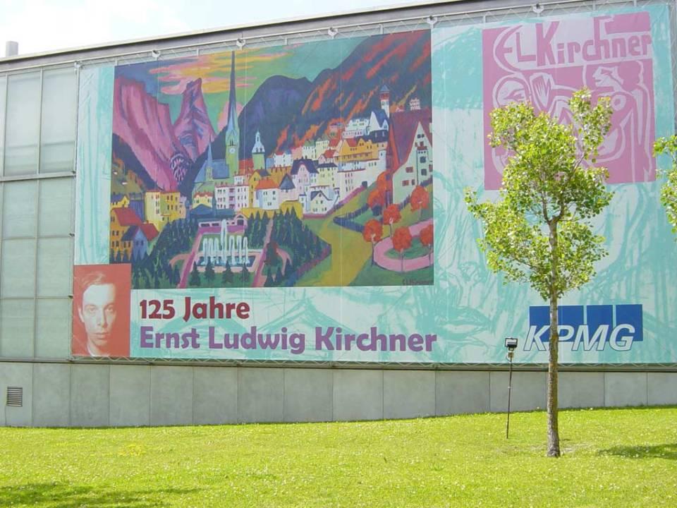 A davosi Krirshner Múzeum 2005-ben, amikor a festő születésének 125. évfordulóját ünnepelték. Sajnos aznap épp zárva volt a múzeum, mikor ott jártam. Fotó: Podmaniczky Szilárd