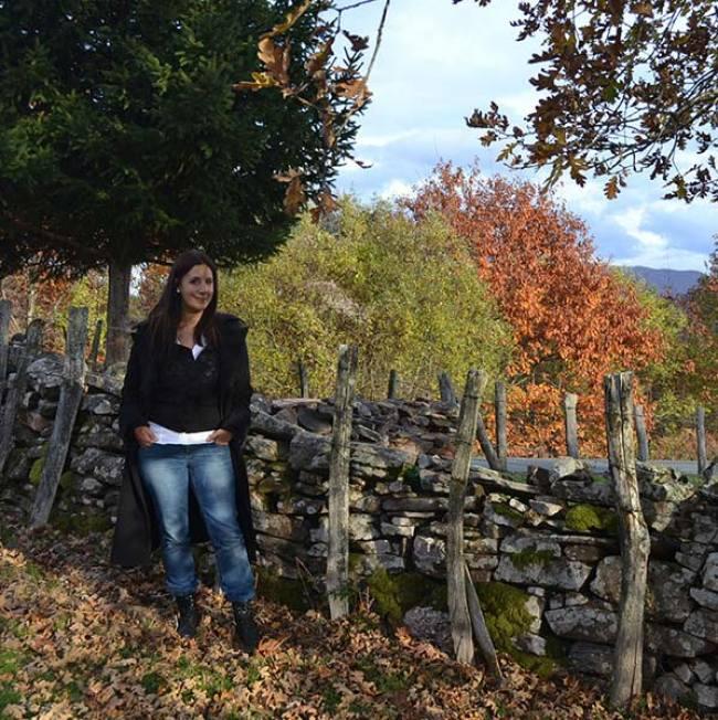 A spanyol írónő a természetben