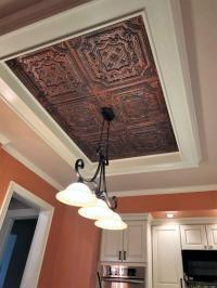 Elizabethan Shield  Faux Tin Ceiling Tile  24x24  # ...