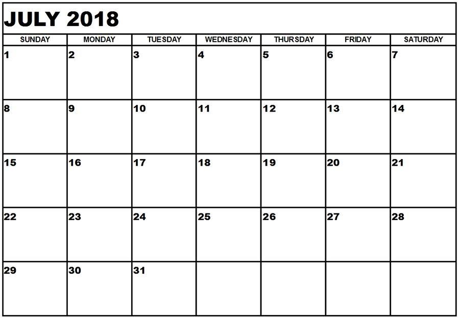 Download july printable calendar 2018 word clipart Calendar