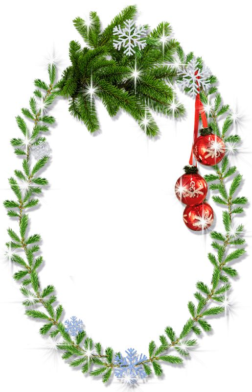 Download oval christmas frame clipart Borders and Frames Christmas
