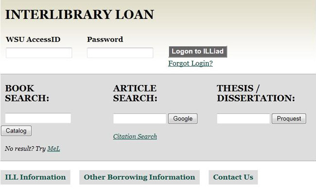 Content Delivery (Interlibrary Loan \/ Document Delivery) - Wayne - loan request form