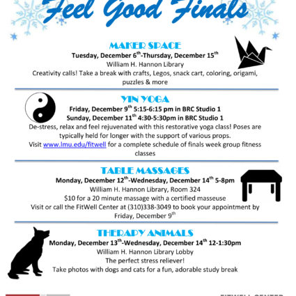 Feel Good Finals Fall 2016 Flyer