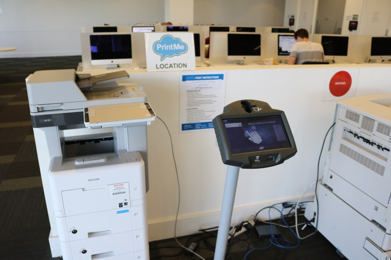New PrintMe Station in Information Commons