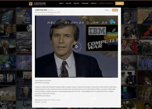 vanderbilt database screenshot