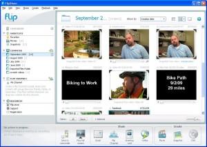 Screenshot of the FlipShare Software