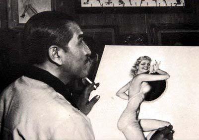 Vargas dibujando para Esquire, un contrato tremendamente desfavorable para el artista.