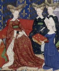 Cristina de Pisán presenta su libro a Isabela de Bavaria, Reina de Francia