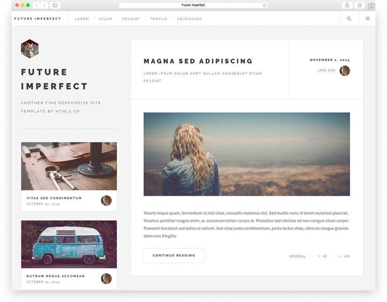 Top 15 Best Free HTML  CSS3 Bootstrap Blog Templates 2016 - Libthemes