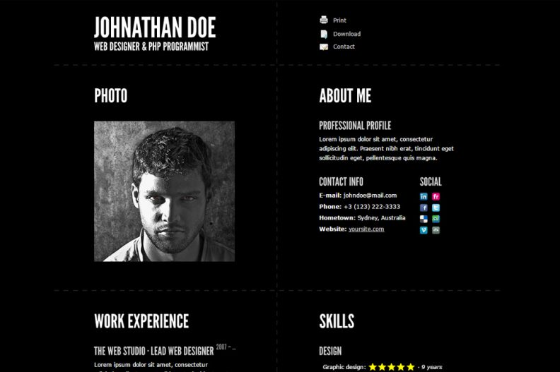 Top 10 Best Responsive HTML Resume Templates 2016 Edition - Libthemes