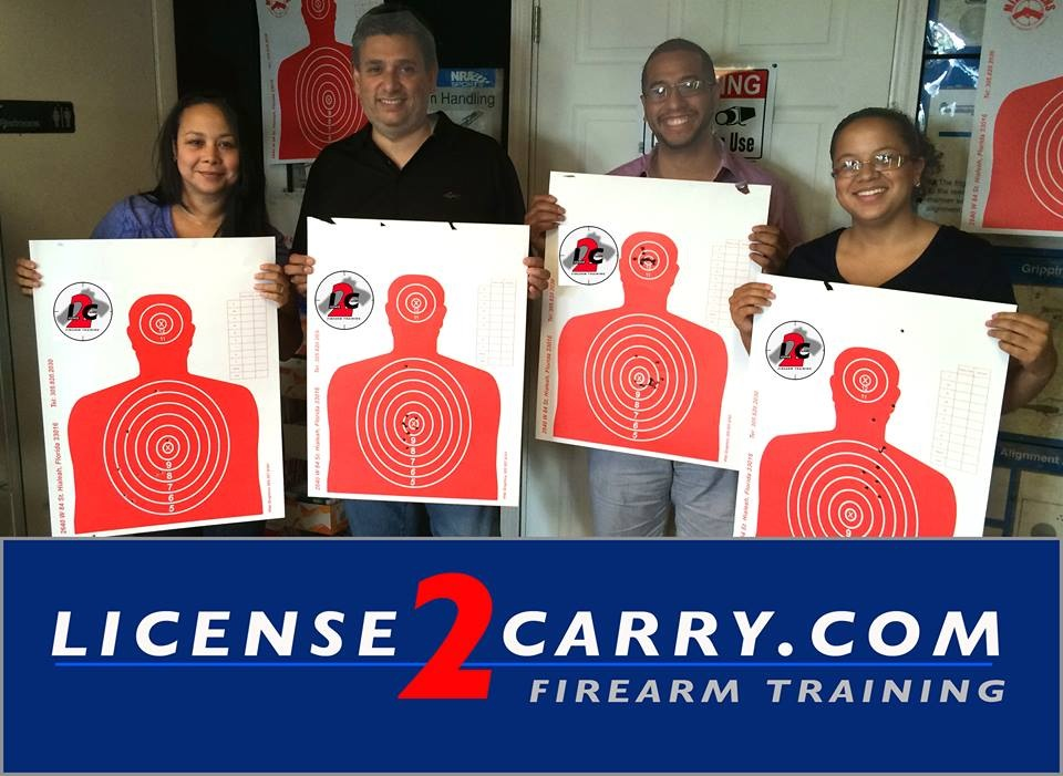 concealed weapons permit class in Miami students