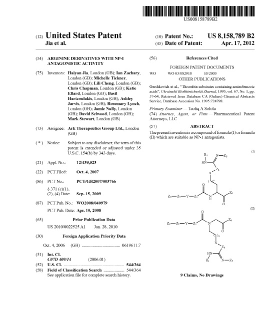 Pharmaceutical Patent Attorneys, LLC - chemical patent attorney sample resume