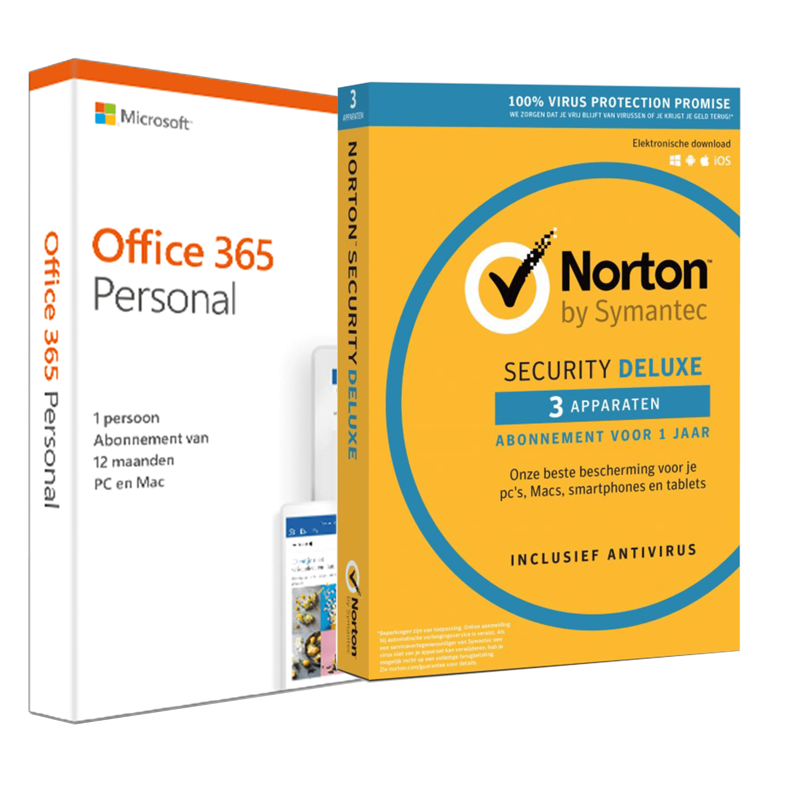 Office 2016 Kopen Voordeelbundel Office 365 Personal Norton Security Deluxe 3 Apparaten 1 Jaar