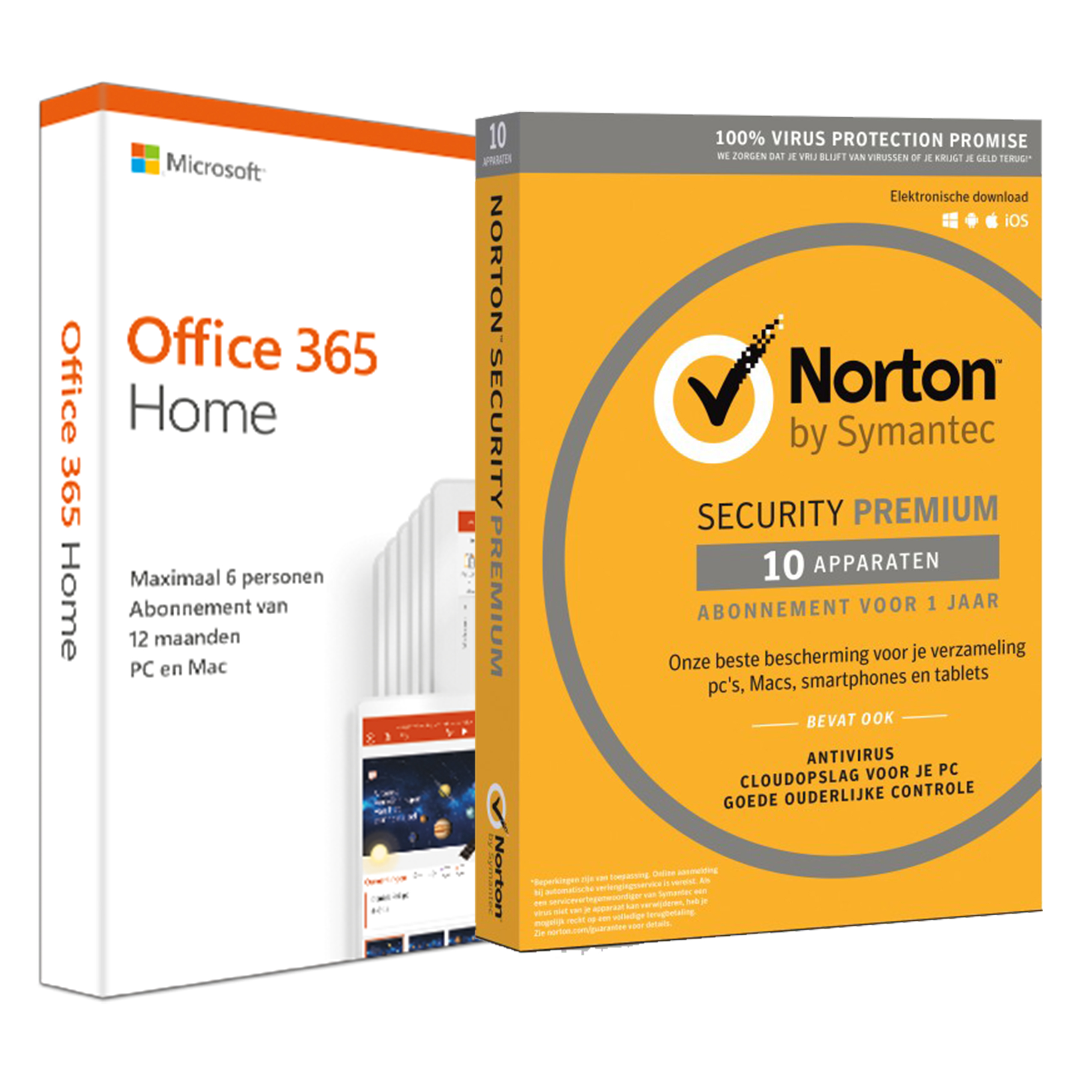 Office 2016 Kopen Voordeelbundel Office 365 Home 6 Apparaten Norton Premium 10 Apparaten