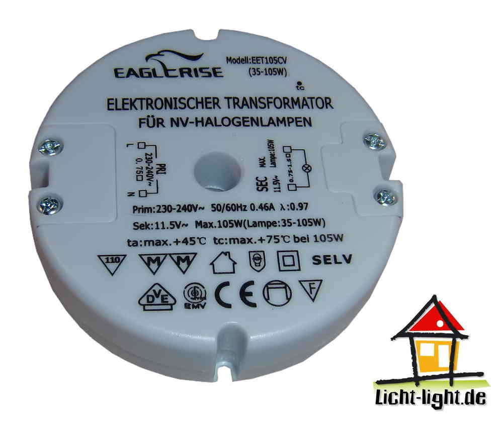 Elektronischer Transformator Eaglerise Sunrise Eet105cv Set105cv Licht Light