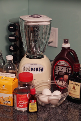 Ingredients for Irish Cream Liqueur