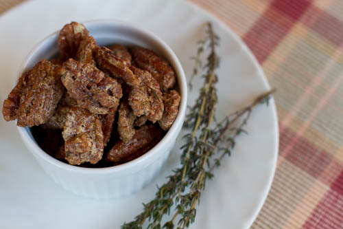 Brown Sugar and Thyme Pecans