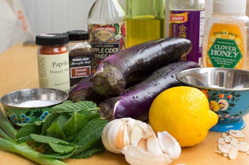 eggplant salad ingredients