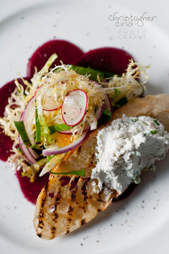 Beets with Endive, Citrus and Radish Salad (Photo Credit: Christopher Cina)